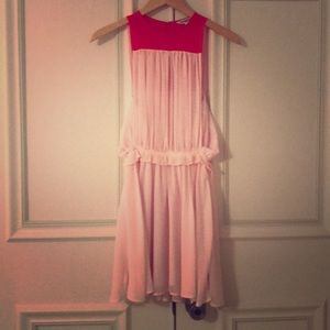 Pink & Red chiffon dress